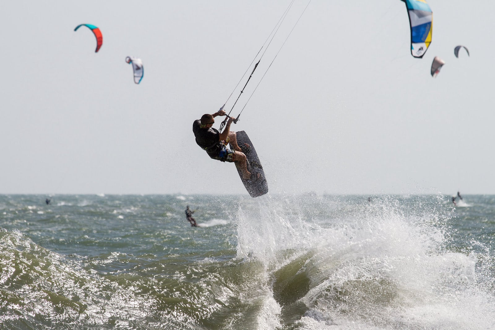 Image of a kite surfer at a becah in Mui Ne, Vietnam