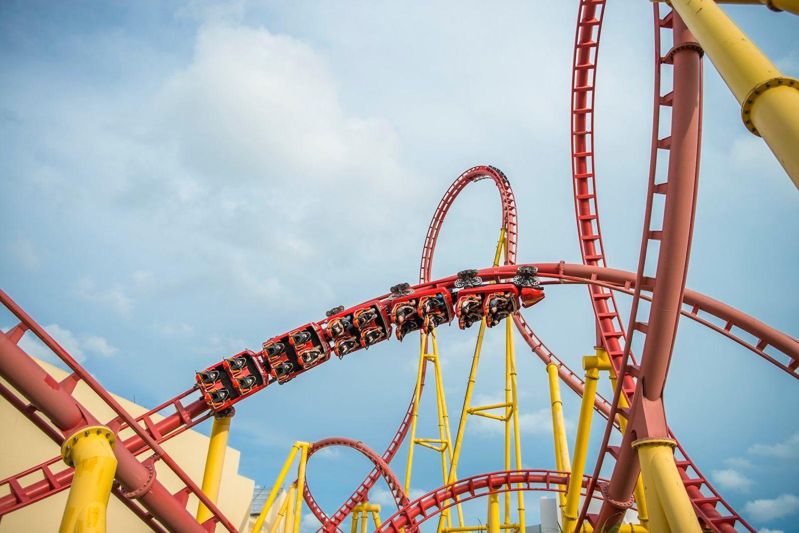 Image of a rollercoaster at VinWonders in Vietnam