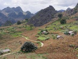 Image of the town of Dong Van's rural landscape in Vietnam