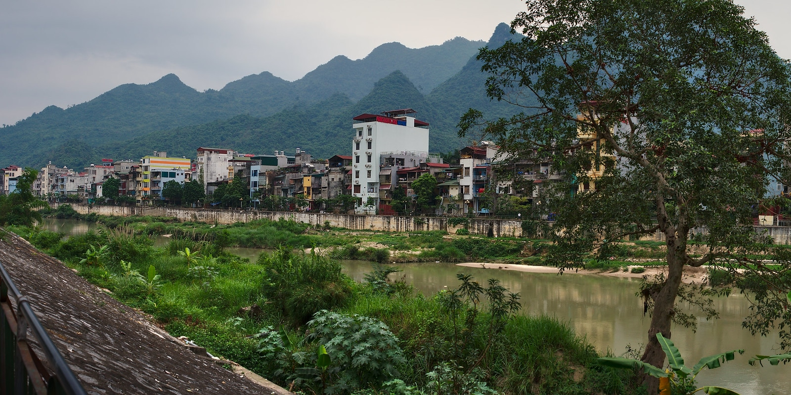 Ha Giang City in the Ha Giang Province Vietnam
