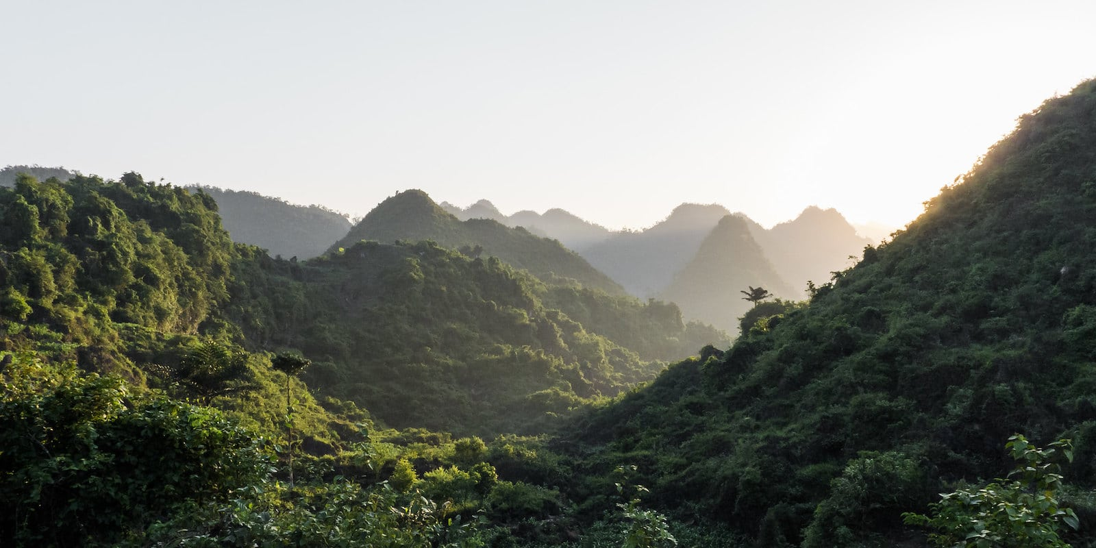 Image of a sunrise in Ha Giang, Vietnam