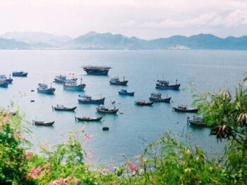 Image of boats in the water in Nha Trang, Khanh Hoa, Vietnam