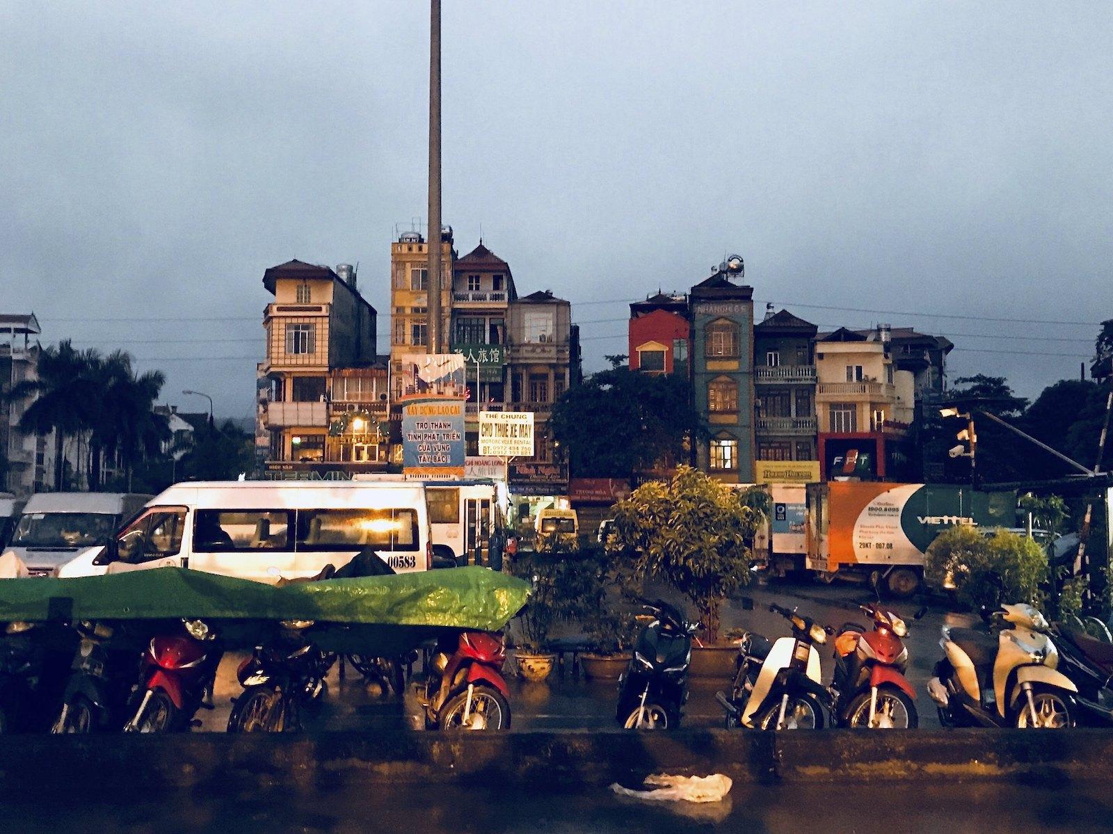 Image of motorbikes in Lao Cai, Vietnam