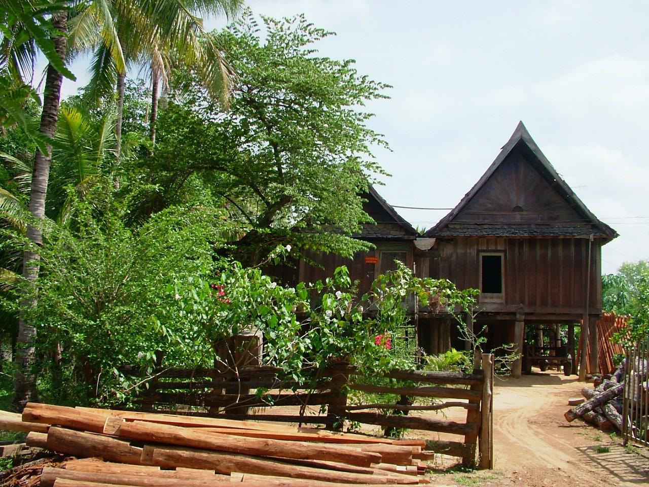Image of a Lao Stilt House in Ban Don Village in Da Lak Province, Vietnam