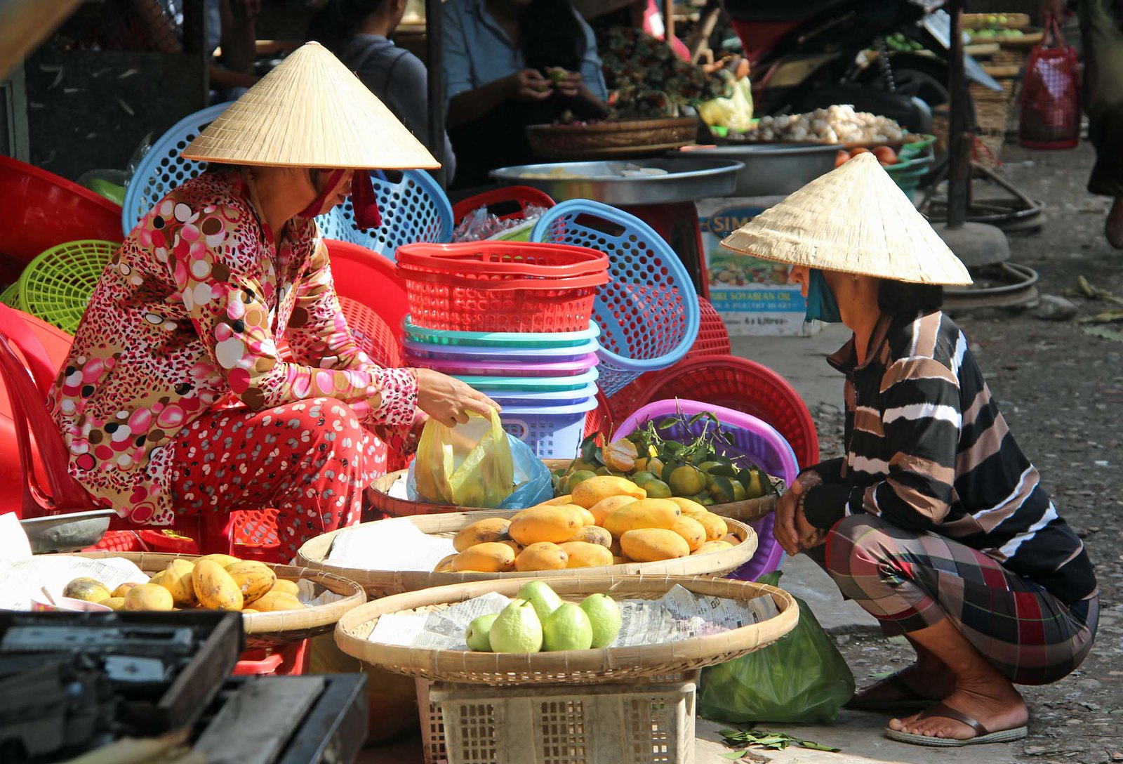 Local Vendors in the Kien Giang Province, Vietnam