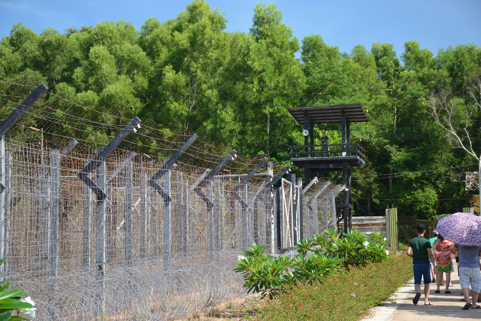 Image of a guard stand at the Phu Quoc Prison Museum in Vietnam