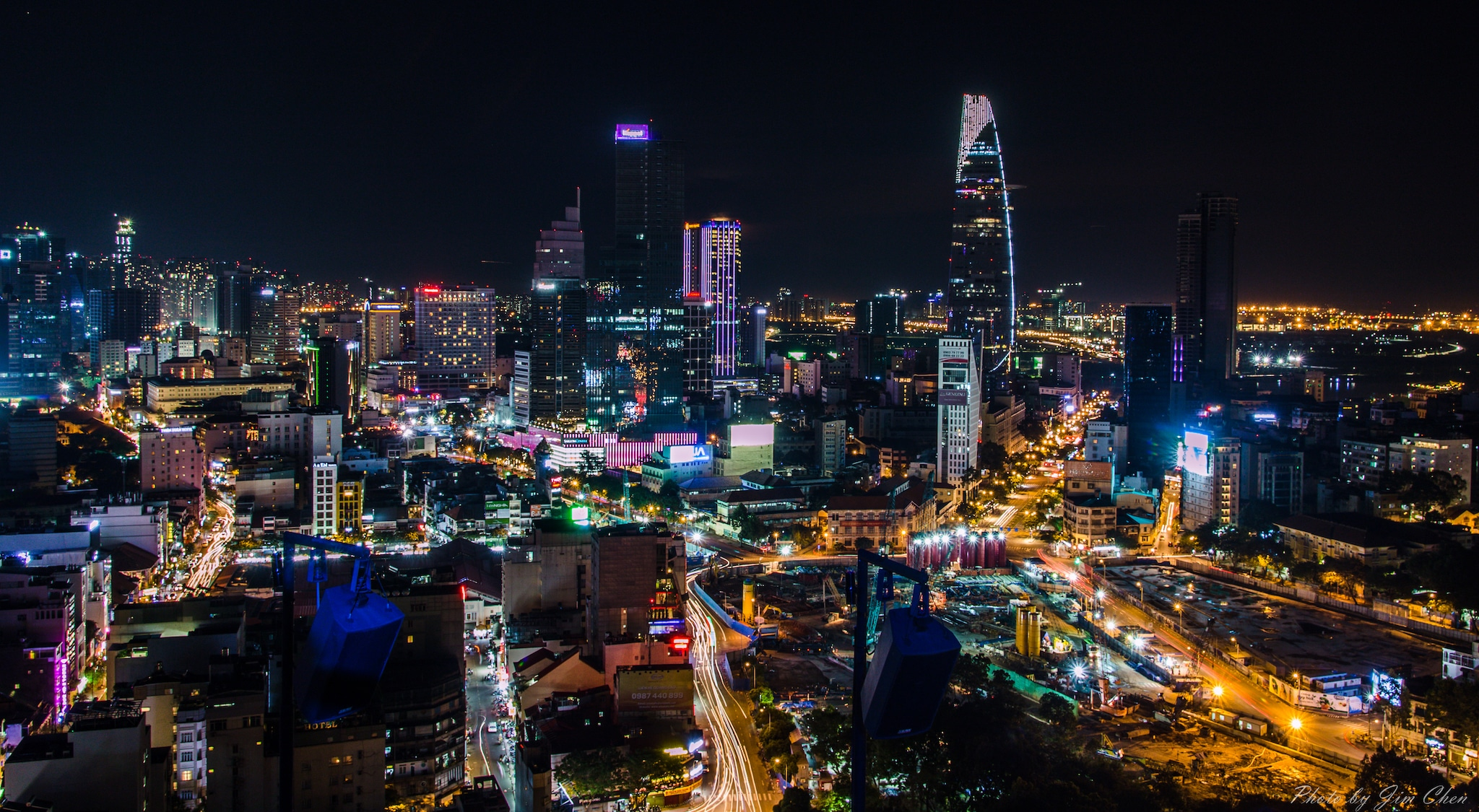 Saigon Skyline from Chill Skybar