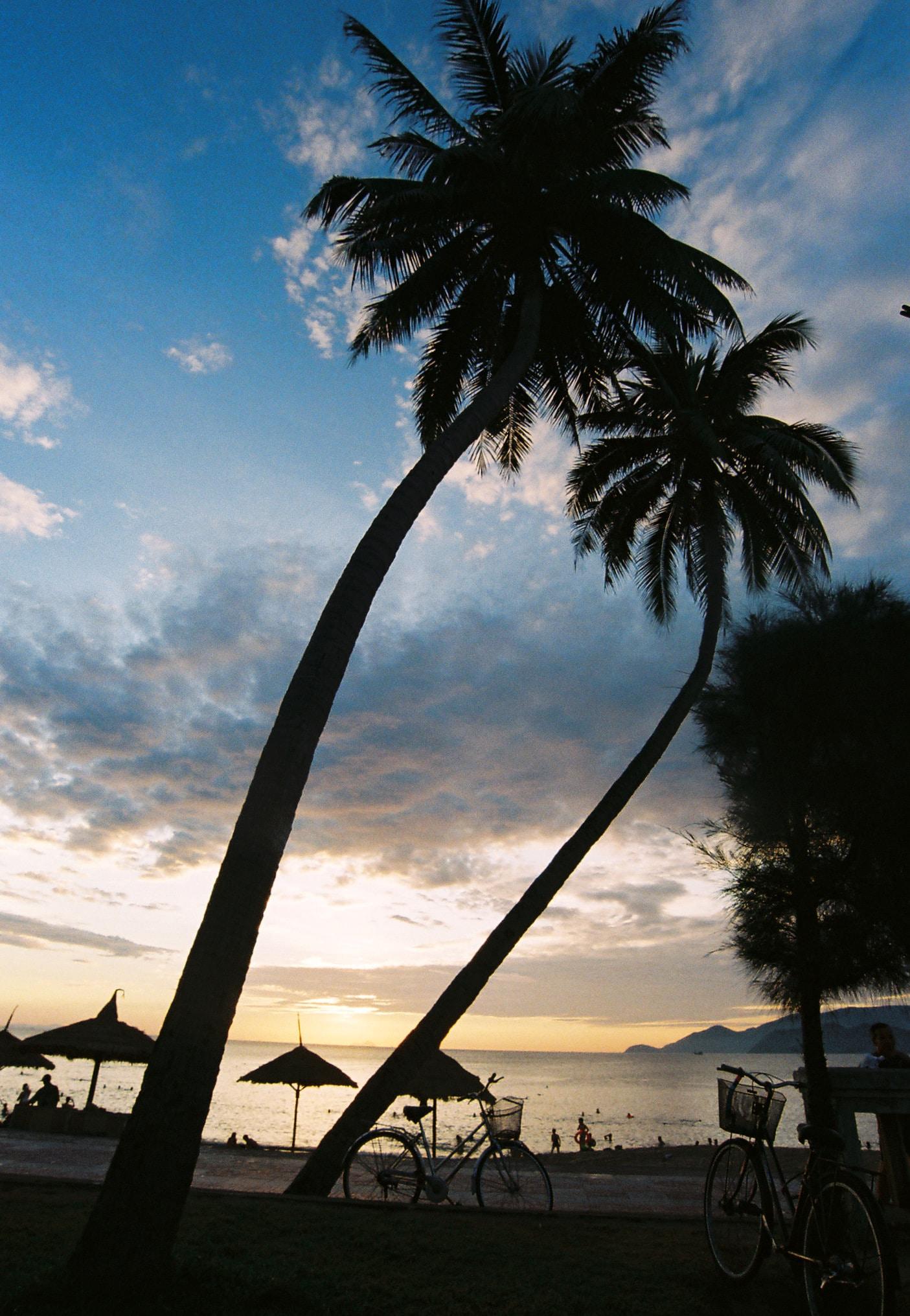 Beach Sunset at Nha Trang, Khanh Hoa, Vietnam
