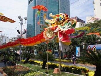 Tet Holiday Dragon HCMC Vietnam