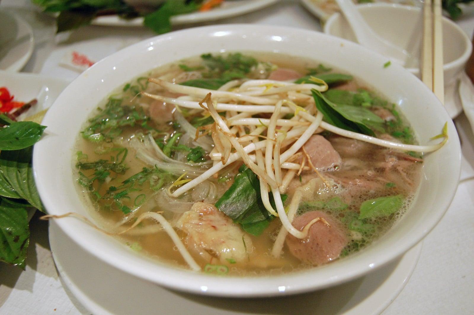 Vietnamese food pho bo soup