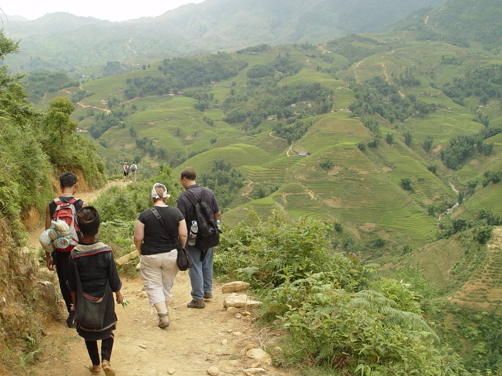 Hiking in the valley trail, Sapa