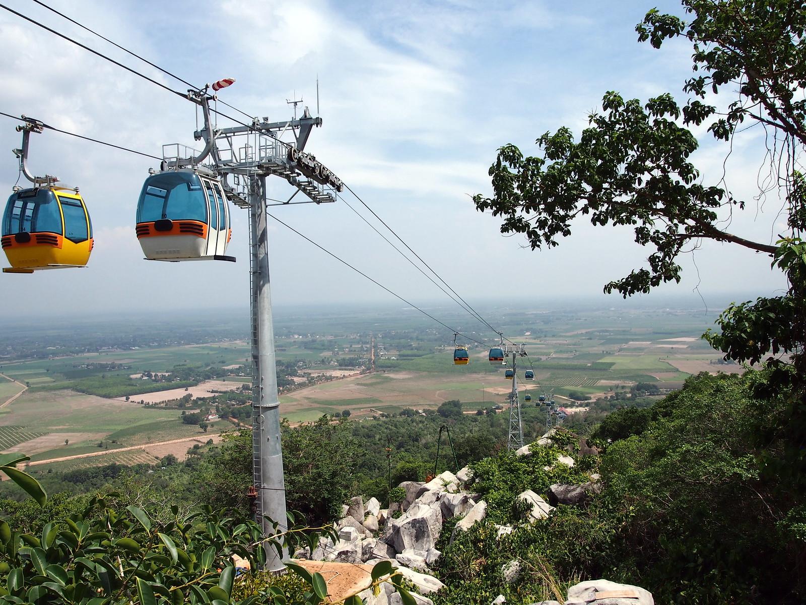 Black Virgin Mountain Cable Car in Tay Ninh City, Vietnam