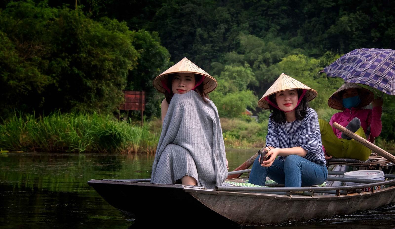 Boat Ride through Ninh Bình City, Vietnam