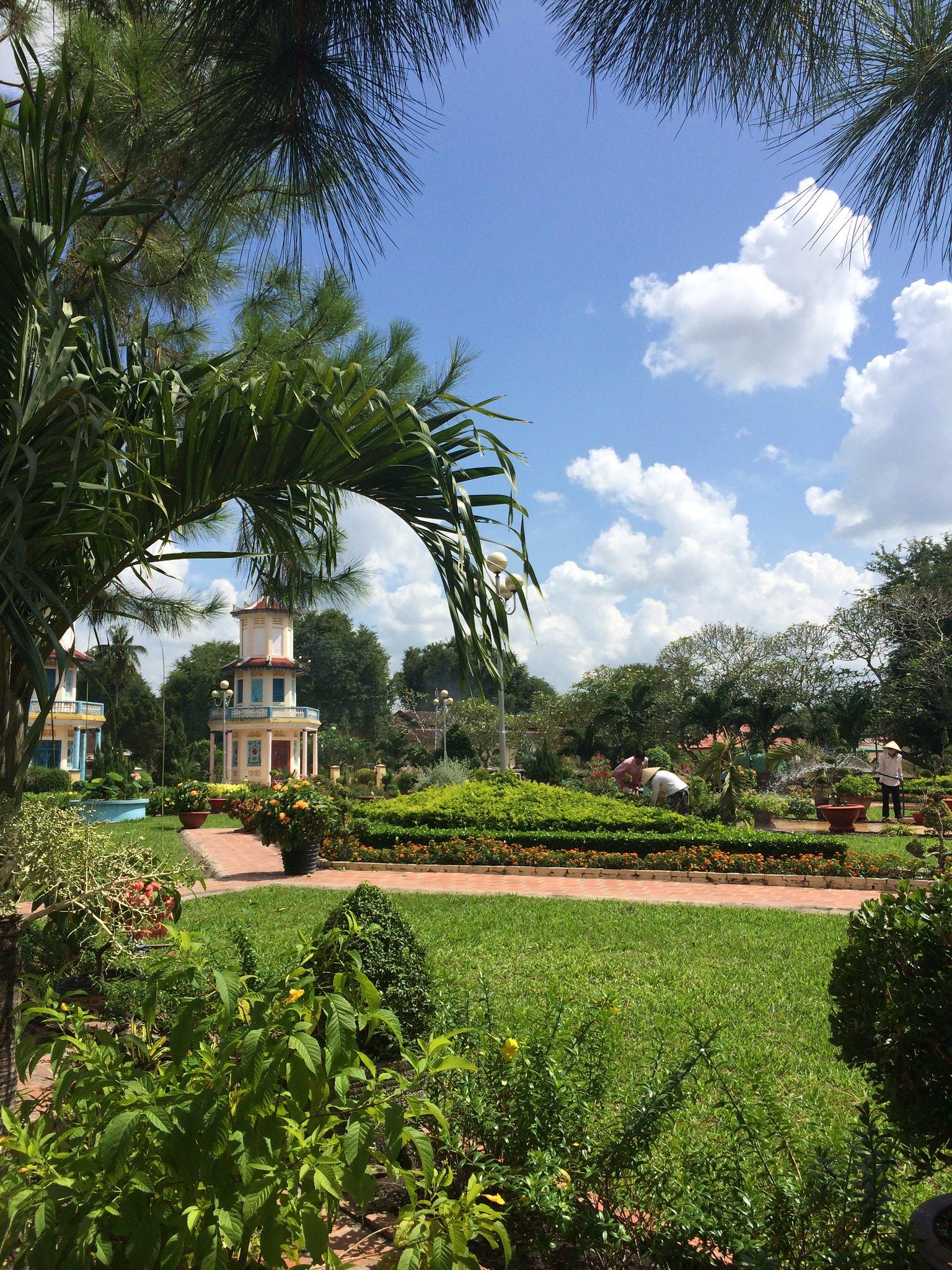 Temple Garden in the Tây Ninh Province, Vietnam