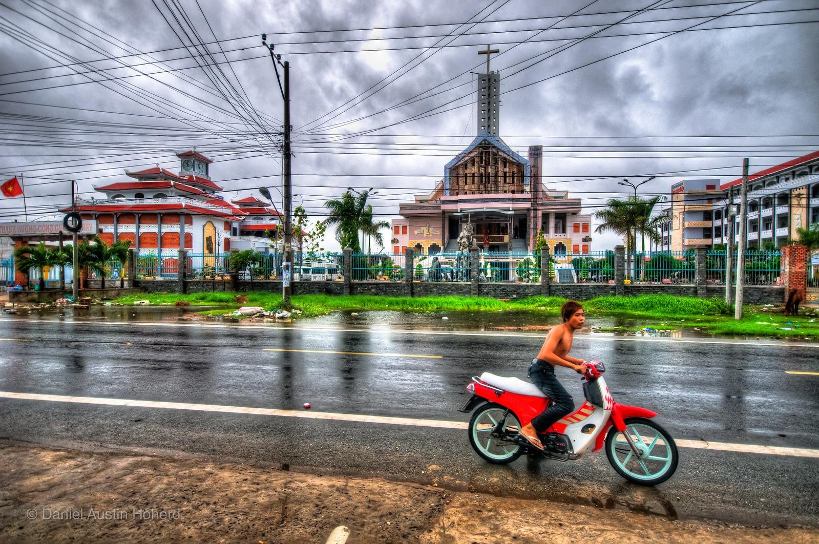 Street in Giá Rai, Bac Liêu Province, Vietnam