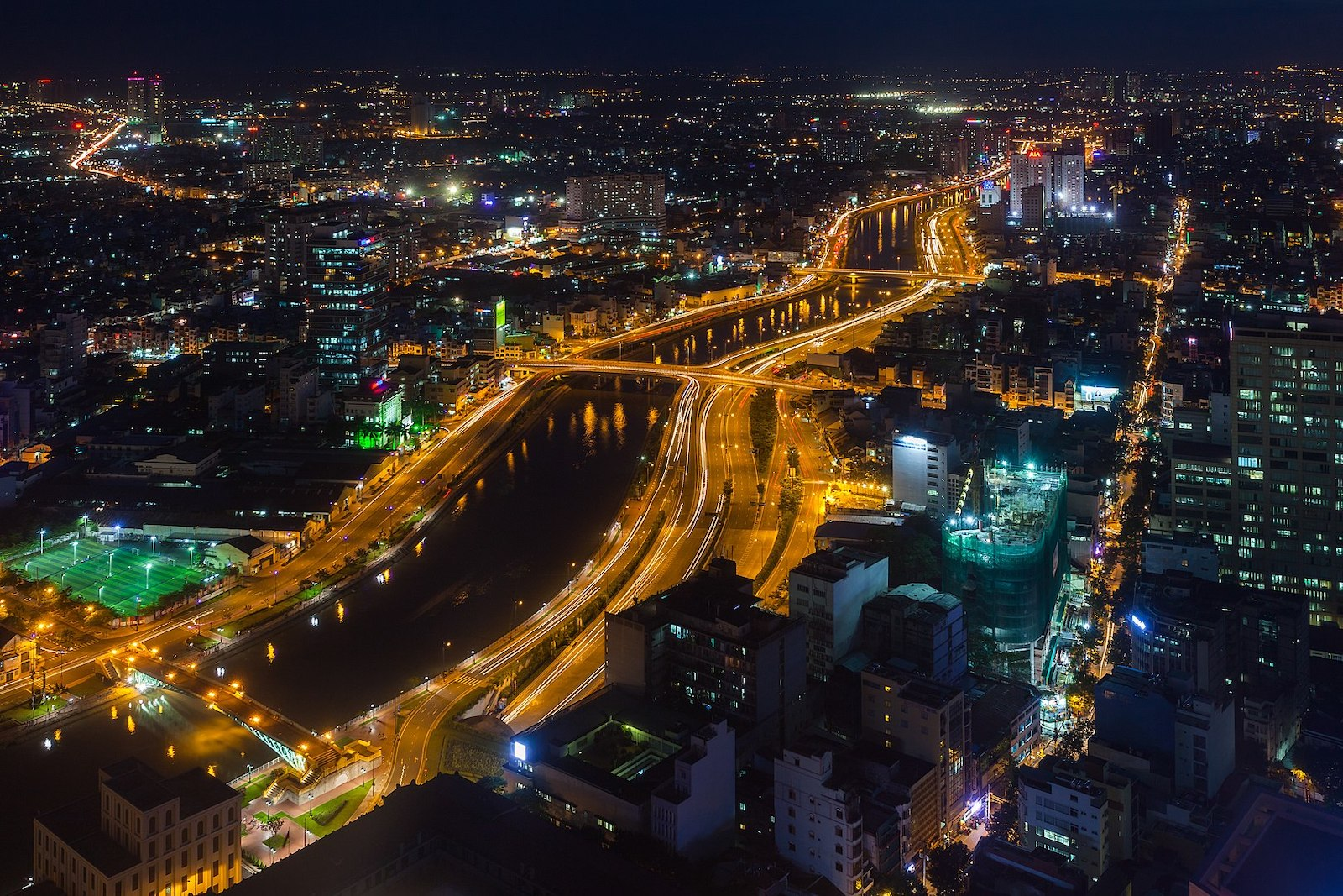Image of Saigon at night