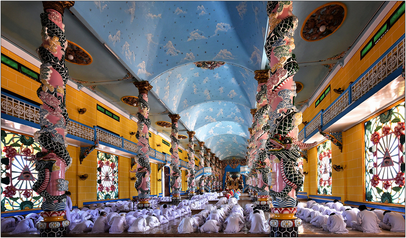 Holy See Temple in Tay Ninh City, Vietnam