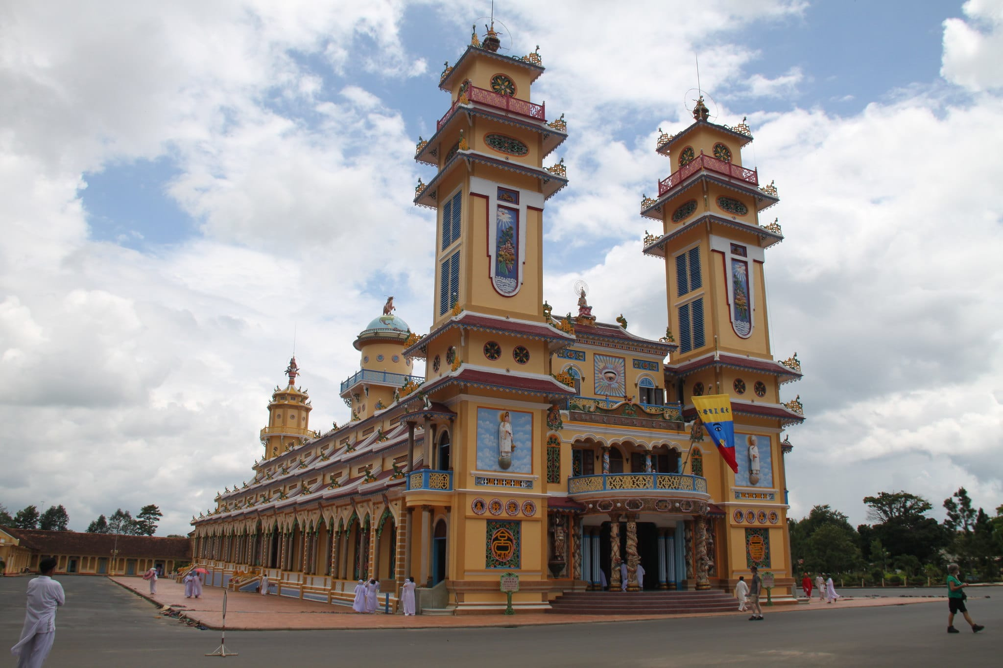 Cao Dài Holy See Temple in Tây Ninh Vietnam