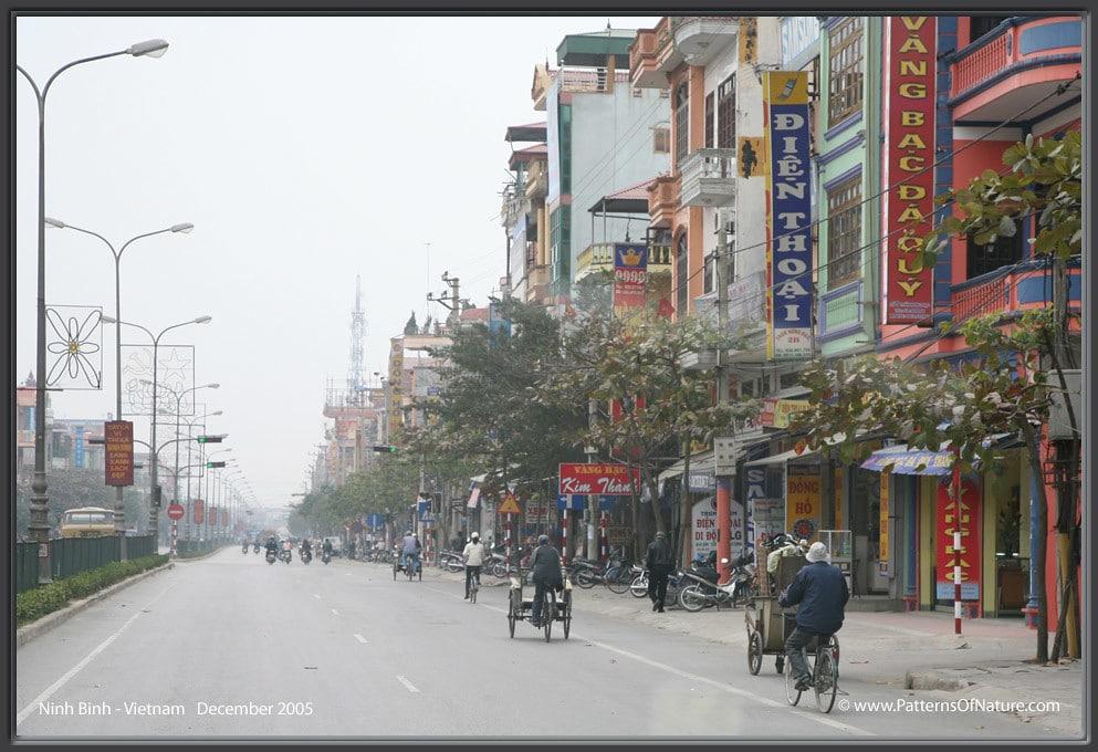 Main street in Ninh Bình City, Vietnam