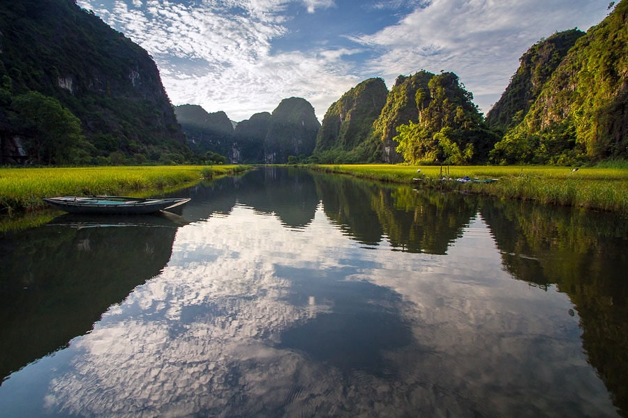 River View of Tam Coc in the Ninh Bình Province Vietnam