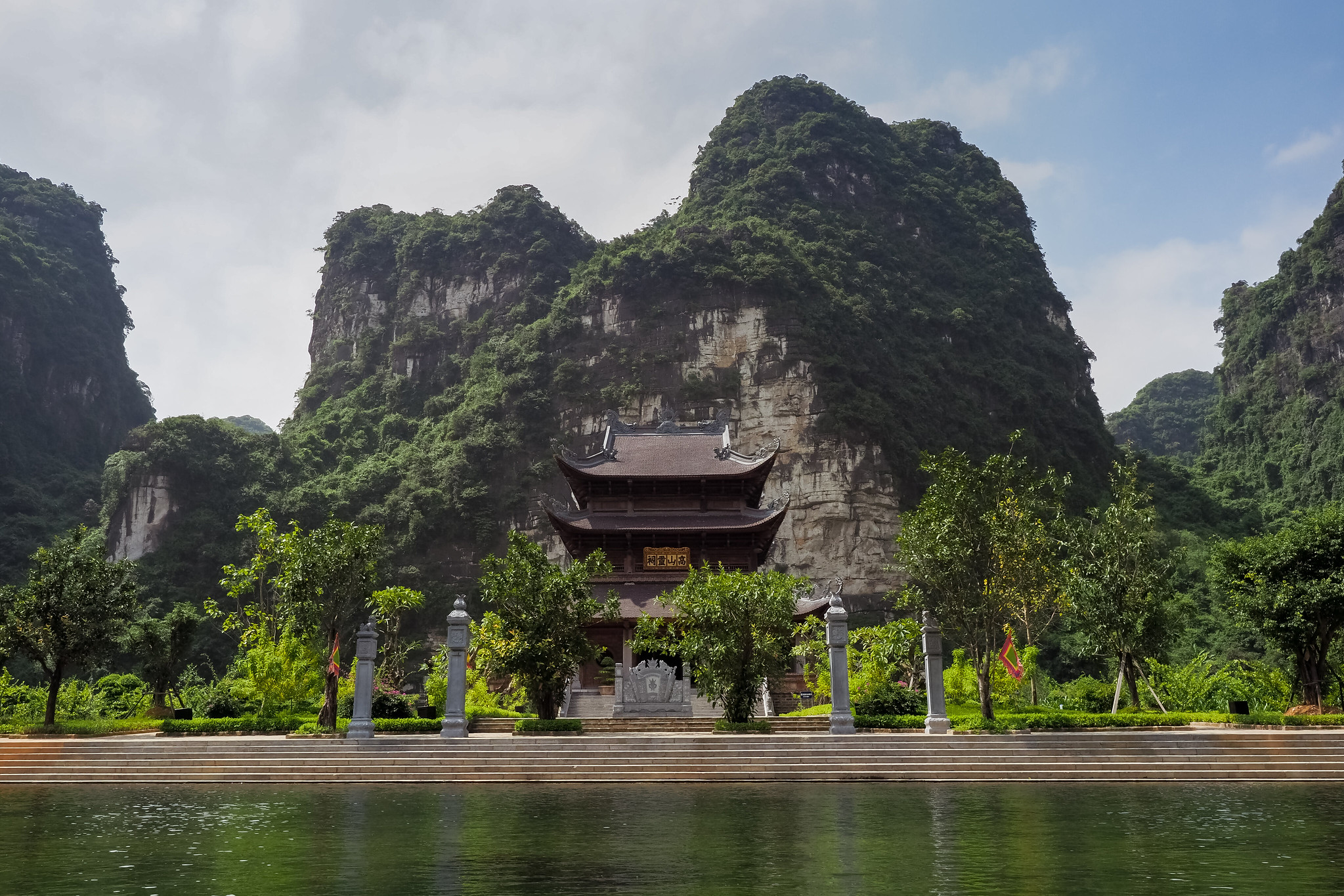Temple on the River in the Ninh Bình Province Vietnam