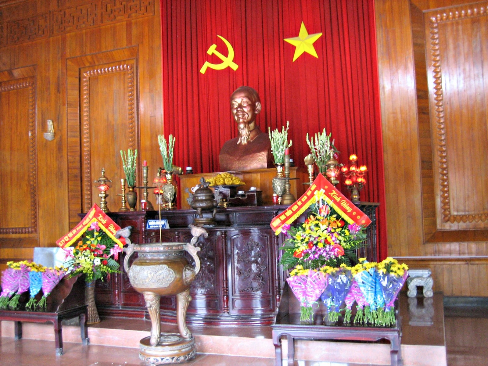 Shrine at Kim Lien in the Nghe An Province, Vietnam