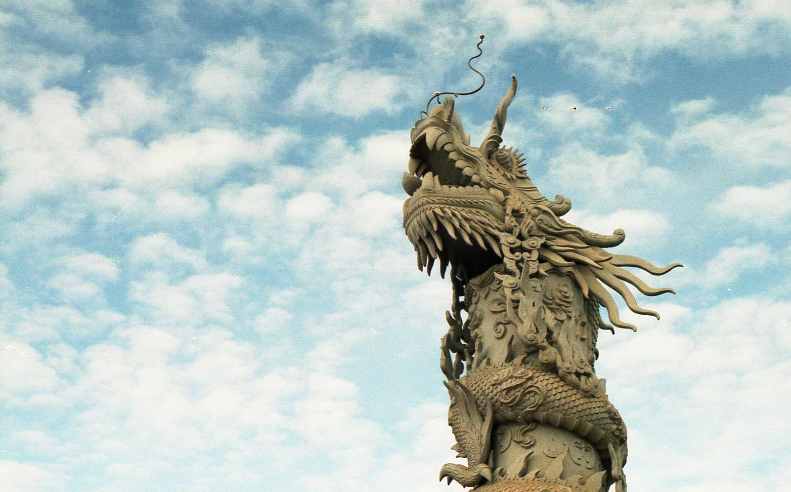 Image of a dragon statue in Tay Ninh, Vietnam