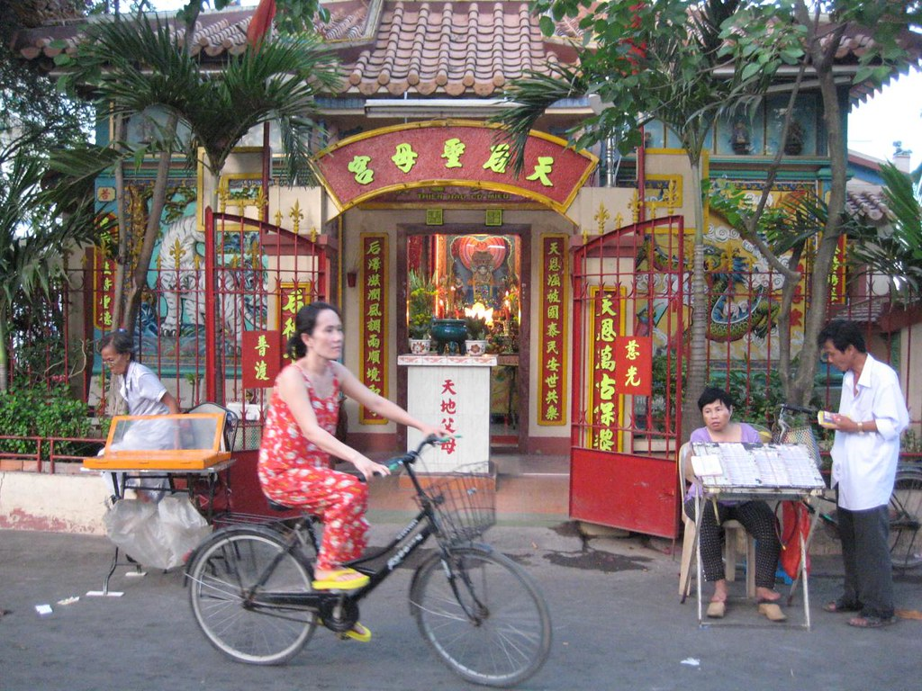 Temple entry in Bac Liêu City Vietnam