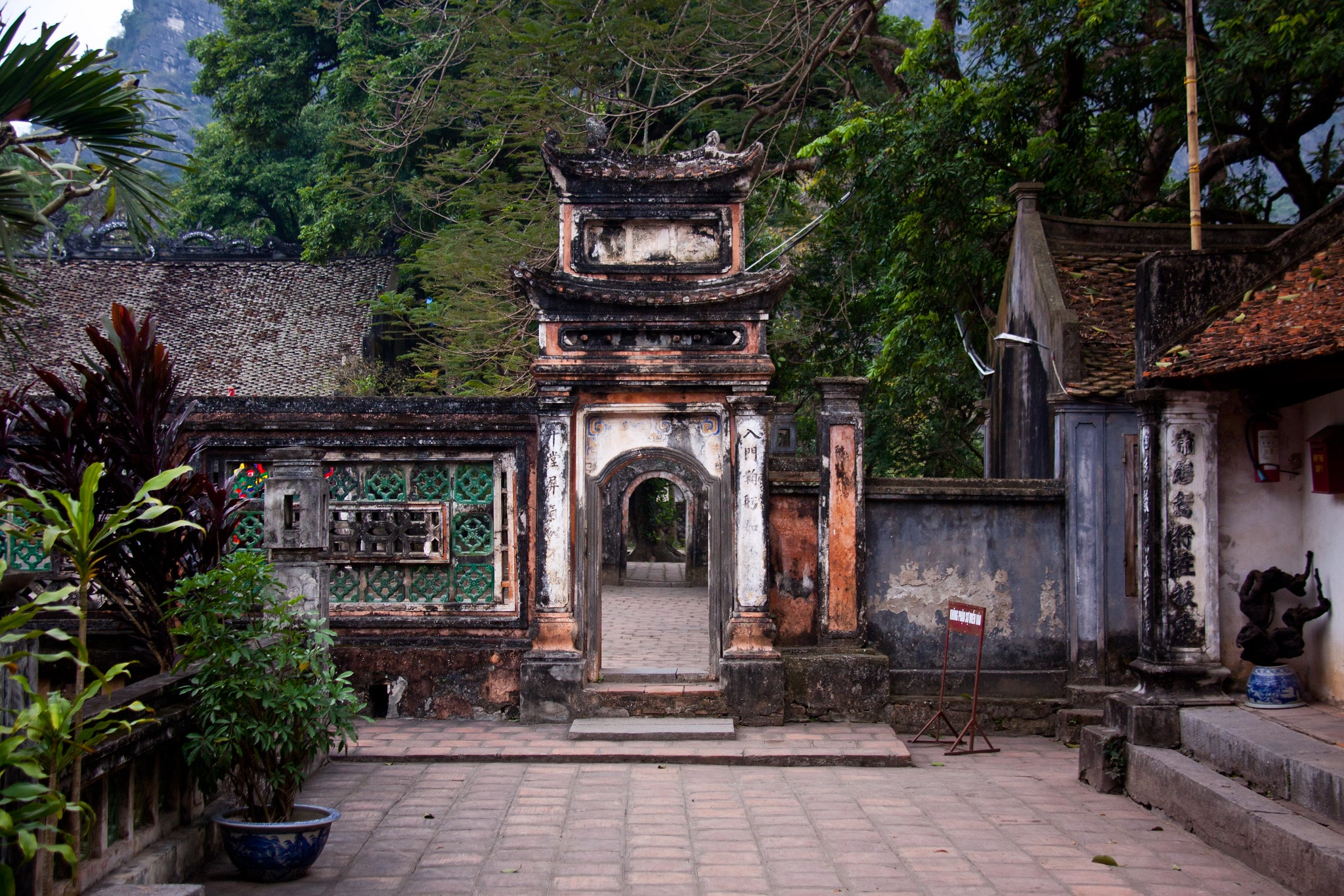Ancient Temple Compled in the Ninh Bình Province Vietnam