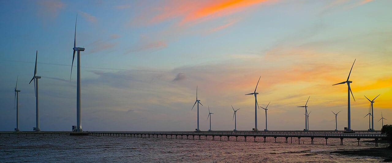 Wind Power Farm in the Bac Liêu Province, Vietnam